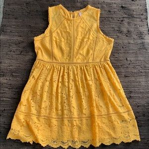 NWOT Yellow Floral Lace Dress